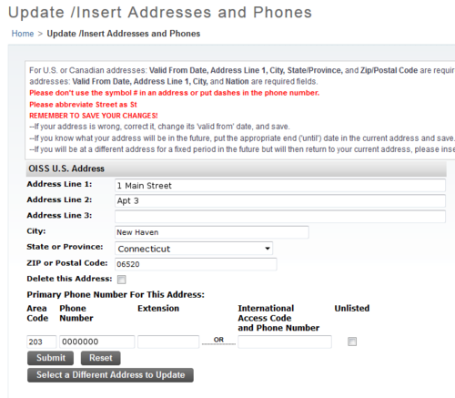 Report Your Address Office Of International Students Scholars