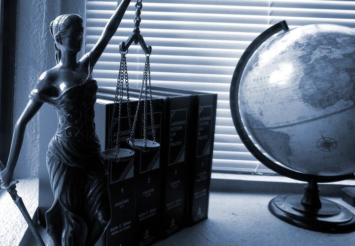 Lady Justice and globe