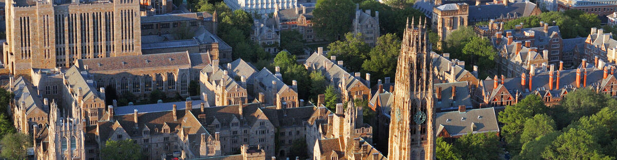 Aerial view of Yale Campus