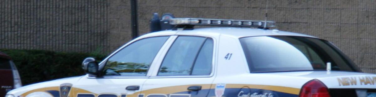 Police car in street