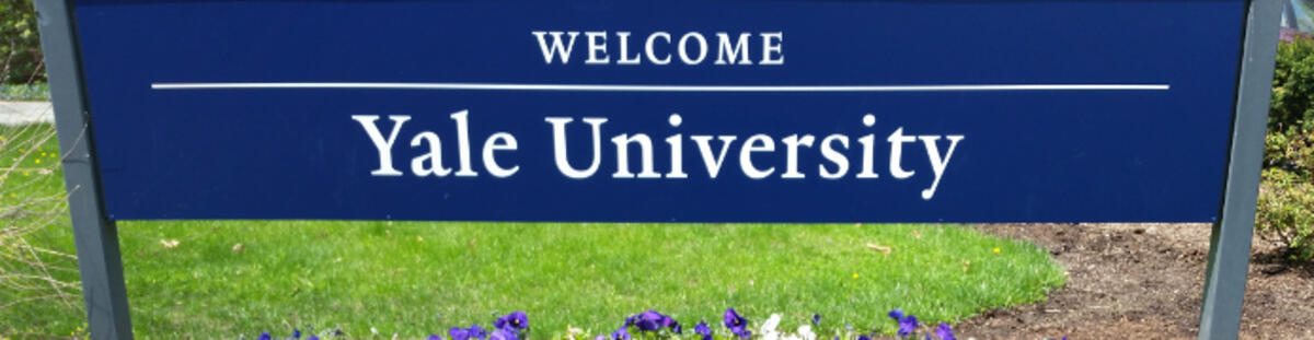 Welcome to Yale sign