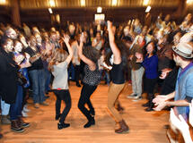 Students dancing at a Yale Event