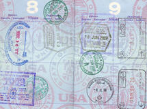 passport filled with visa stamps